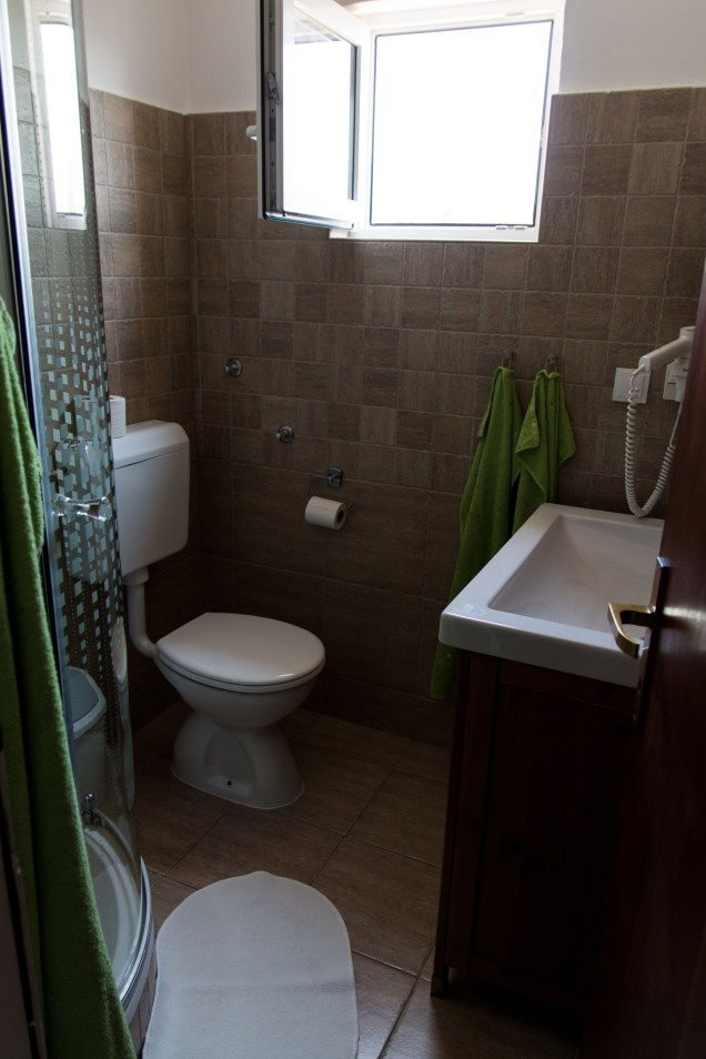 hotel bathrooms, Hotel Skalinada, Hvar accommodation, arboursabroad